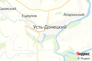 Карта пгт Усть-Донецкий Ростовская область