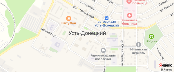 Улица Степана Разина на карте Усть-Донецкого поселка Ростовской области с номерами домов