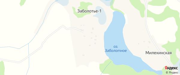 Заболотная улица на карте деревни Заболотья-1 с номерами домов