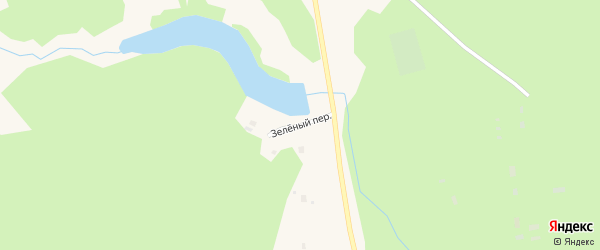Зеленый переулок на карте поселка Подюги Архангельской области с номерами домов