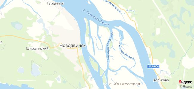 Остров Ягодник на карте