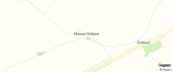 Карта деревни Малых Озерков в Тамбовской области с улицами и номерами домов