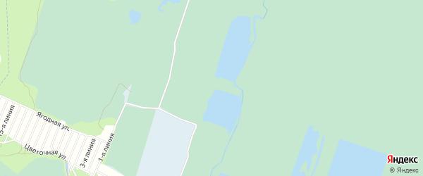 Садовое товарищество Урожай на карте Камешковского района Владимирской области с номерами домов