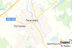 Карта пос. Лежнево Ивановская область