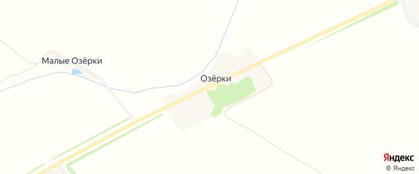 Карта деревни Озерков в Тамбовской области с улицами и номерами домов