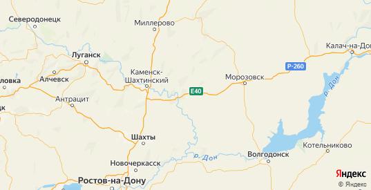 Карта Белокалитвинского района Ростовской области с городами и населенными пунктами