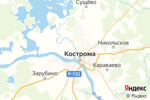 Карта г. Кострома Костромская область