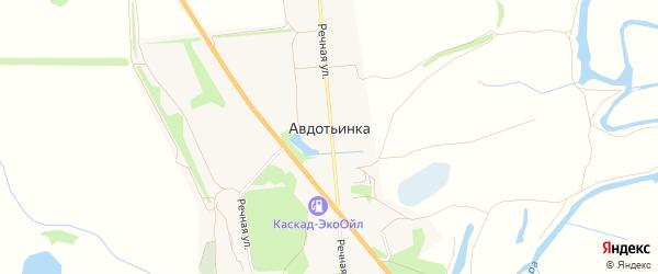 Карта деревни Авдотьинки в Рязанской области с улицами и номерами домов