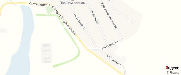 Улица Горького на карте хутора Балабинки Ростовской области с номерами домов