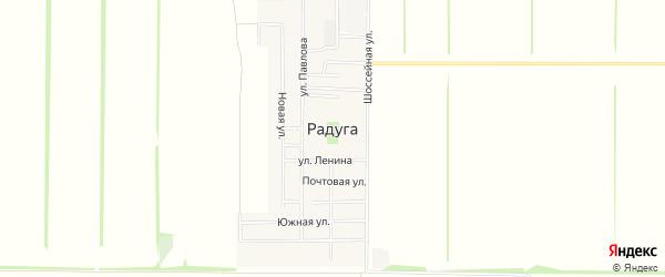 Карта поселка Радуги в Ставропольском крае с улицами и номерами домов