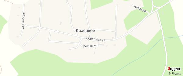 Советская улица на карте поселка Красивого с номерами домов