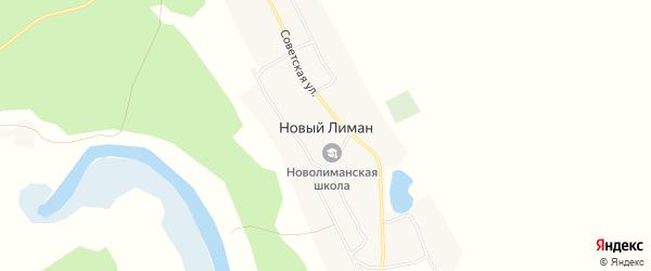 Карта села Нового Лимана в Воронежской области с улицами и номерами домов