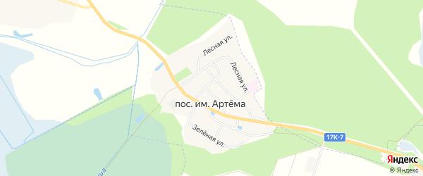 Карта поселка им Артемы в Владимирской области с улицами и номерами домов
