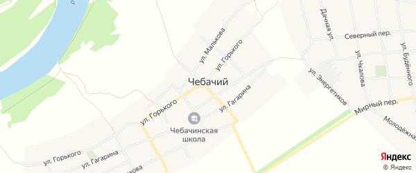 Карта Чебачьего хутора в Ростовской области с улицами и номерами домов