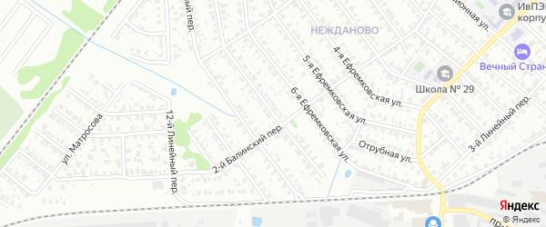 7-я Ефремковская улица на карте Иваново с номерами домов