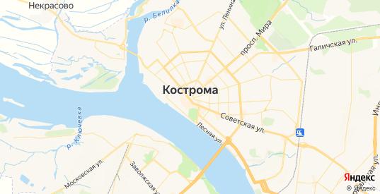 Карта Кострома с улицами и домами подробная. Показать со спутника номера домов онлайн