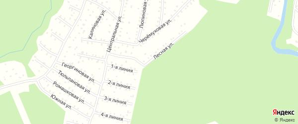 Лесная улица на карте населенного пункта СНТ Зори Севера с номерами домов