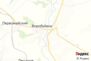 Карта с. Воробьевка Воронежская область