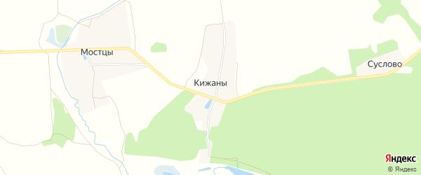Карта деревни Кижаны в Владимирской области с улицами и номерами домов