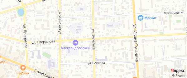 Улица Энгельса на карте Кострома с номерами домов