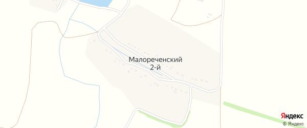 Малореченская улица на карте Малореченского 2-й поселка Воронежской области с номерами домов