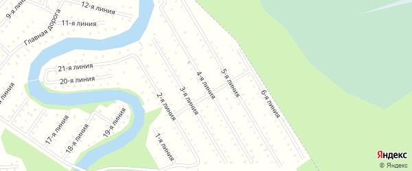 Улица 4-я Линия на карте населенного пункта СНТ Березки с номерами домов