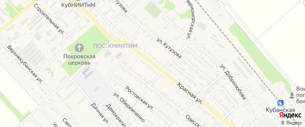 Красная улица на карте Новокубанска с номерами домов