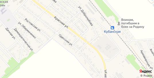 Донской переулок в Новокубанске с номерами домов на карте. Спутник и схема онлайн