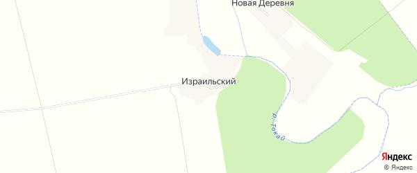 Карта Израильского поселка в Воронежской области с улицами и номерами домов