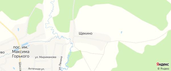Карта деревни Щекино в Владимирской области с улицами и номерами домов