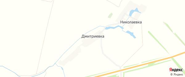 Карта деревни Дмитриевки в Тамбовской области с улицами и номерами домов