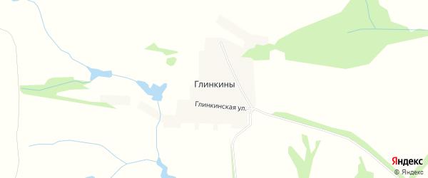 Карта деревни Глинкины в Тамбовской области с улицами и номерами домов