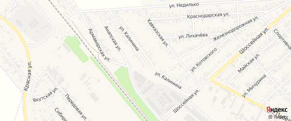 Улица Калинина на карте Новокубанска с номерами домов