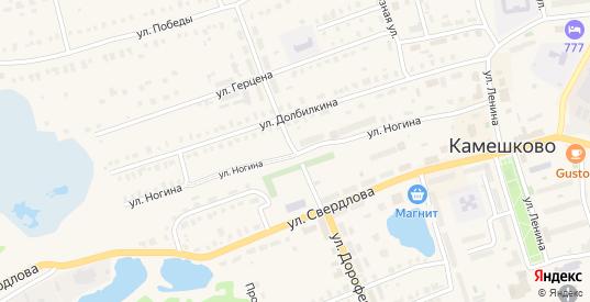 Улица Дорофеичева в Камешково с номерами домов на карте. Спутник и схема онлайн