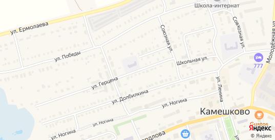 Улица Герцена в Камешково с номерами домов на карте. Спутник и схема онлайн