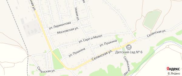 Улица Серп и Молот на карте Калача с номерами домов