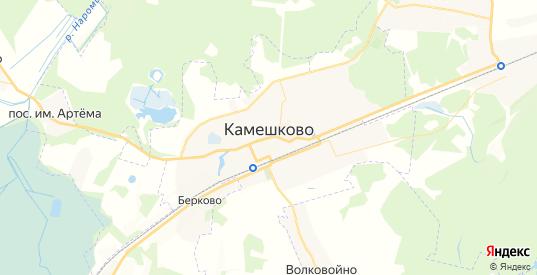 Карта Камешково с улицами и домами подробная. Показать со спутника номера домов онлайн