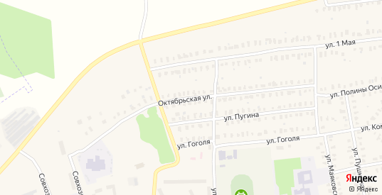 Октябрьская улица в Камешково с номерами домов на карте. Спутник и схема онлайн