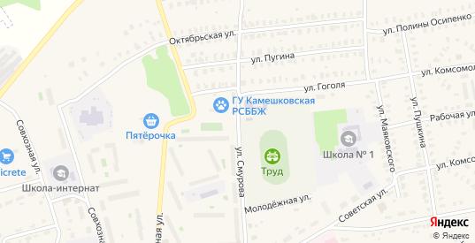 Улица Смурова в Камешково с номерами домов на карте. Спутник и схема онлайн