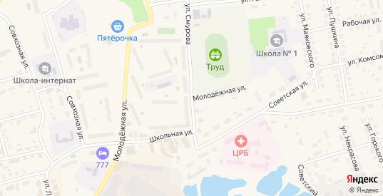 Молодежная улица в Камешково с номерами домов на карте. Спутник и схема онлайн