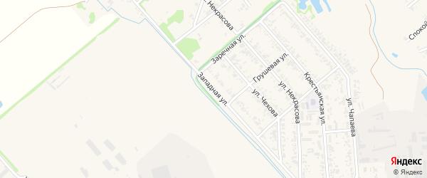 Западная улица на карте Новокубанска с номерами домов