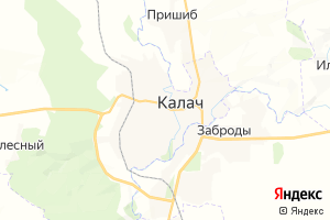 Карта г. Калач Воронежская область