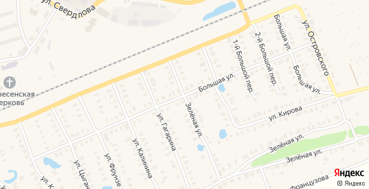 Большая улица в Камешково с номерами домов на карте. Спутник и схема онлайн
