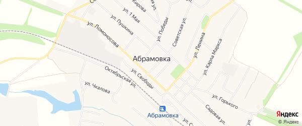 Карта поселка Абрамовка (Абрамовское с/п) в Воронежской области с улицами и номерами домов
