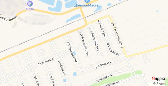 Большой 1-й переулок в Камешково с номерами домов на карте. Спутник и схема онлайн