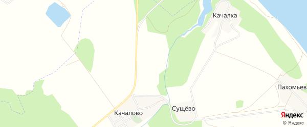 Карта садового некоммерческого товарищества Тихий уголок (Бакшеевское) в Костромской области с улицами и номерами домов