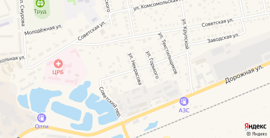 Улица Некрасова в Камешково с номерами домов на карте. Спутник и схема онлайн