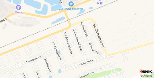 Большой 2-й переулок в Камешково с номерами домов на карте. Спутник и схема онлайн