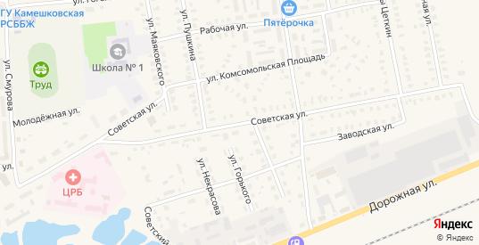 Советская улица в Камешково с номерами домов на карте. Спутник и схема онлайн