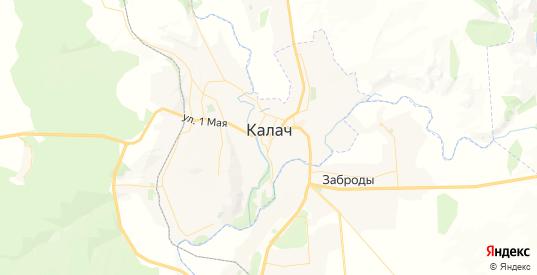 Карта Калача с улицами и домами подробная. Показать со спутника номера домов онлайн